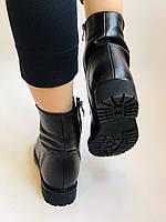 Зимові черевики на натуральному хутрі на низькій підошві з натуральної шкіри. Stalo Totti Р. 36, 38, фото 6