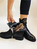 Зимові черевики на натуральному хутрі на низькій підошві з натуральної шкіри. Stalo Totti Р. 36, 38, фото 9