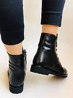 Зимові черевики на натуральному хутрі на низькій підошві з натуральної шкіри. Stalo Totti Р. 36, 38, фото 7
