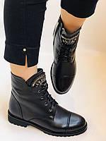 Зимові черевики на натуральному хутрі на низькій підошві з натуральної шкіри. Stalo Totti Р. 36, 38, фото 2