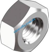 DIN 934, гайка шестигранная с левой резьбой из нержавеющй стали