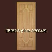 Двері з масиву дерева 80см (бук, глухі) f_0080