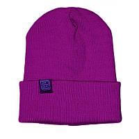 Шапка мужская зимняя Zdes daily фиолетовая (модные молодежные шапки )