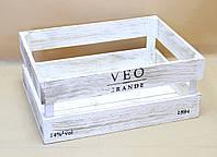 Ящики декоративные КЯ-6 БЕЛО-КОРИЧНЕВЫЙ  (3 ящика, прямоугольные)