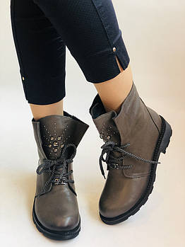Высокое качество.Женские осенние ботинки. На низком каблуке. Натуральная кожа.Alpino  Р. 38.Vellena