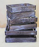 Ящики декоративные КЯ-6 (3 ящика, прямоугольные)