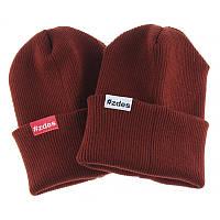 Шапка мужская зимняя Zdes daily терракотовая (модные молодежные шапки )