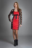Платье женское мод № 341,размер 42-44 коралл и электрик, фото 1