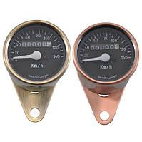 Аналоговий спідометр (одометр) для мототехніки, мото приборка, ретро спідометр, Бобер, Custom Бронза