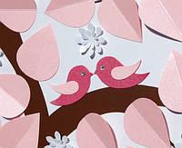 Дерево с птичками и цветочками для пожеланий
