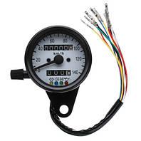 Аналоговий спідометр (одометр) для мото техніки, мото приборка, ретро спідометр, Бобер, Custom