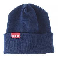 Шапка мужская зимняя Zdes basic синяя (модные молодежные шапки )