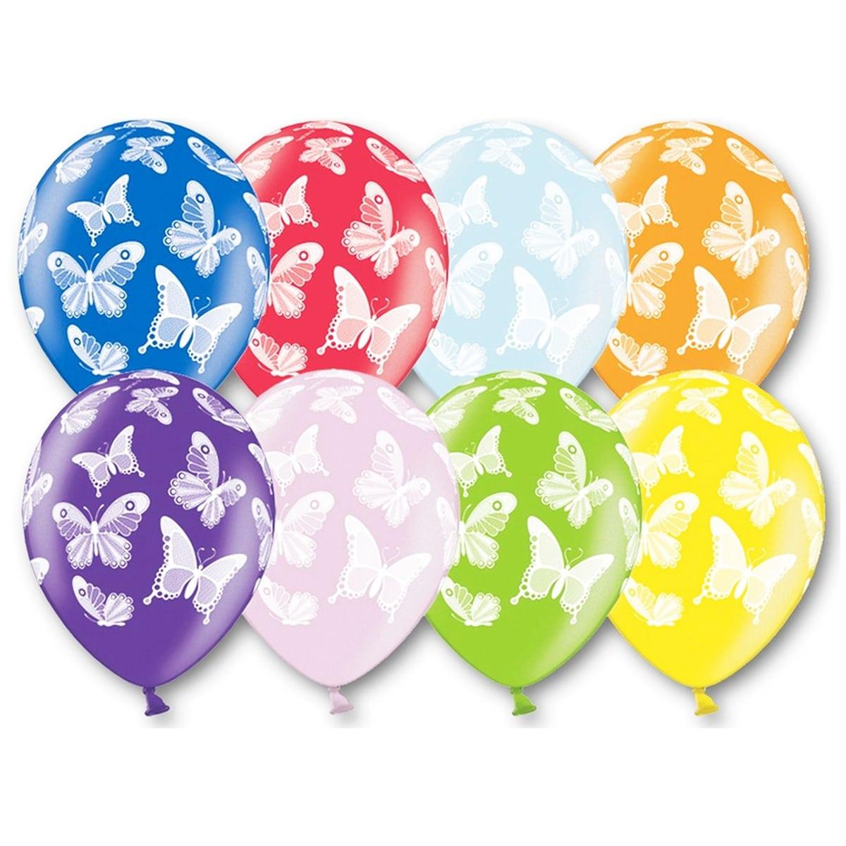 """Воздушные шары  Бабочки металлик 12"""" (30 см), 25 штук в упаковке"""