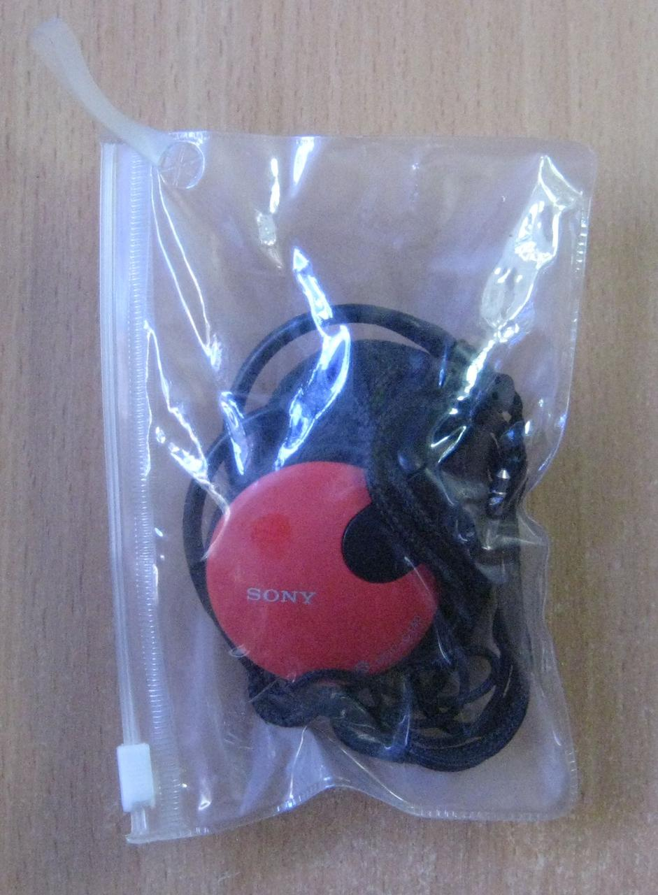 Наушники проводные Sony (клипсы, красные)