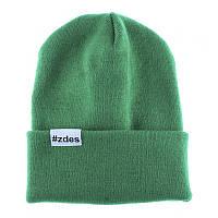 Шапка мужская зимняя Zdes basic зеленая (модные молодежные шапки )
