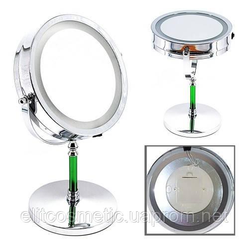 Зеркало с подсветкой на подставке (на батарейках)