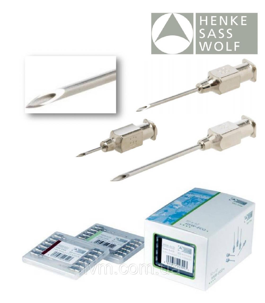 Иглы инъекционные многоразовые 18G 1,2*20мм (Luer-Lock) HSW-ECO, уп/12шт HENKE (Германия)