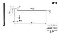 Толкатель  каленый  диаметром 3,2 мм, длина 160 мм