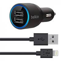 Автомобиьное зарядное устройство Belkin Dual USB MicroCharger (F8J071bt04-BLK)
