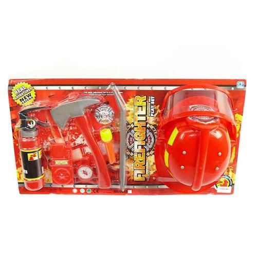 Набор пожарника - каска, огнетушитель, 9905 A