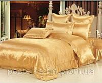Семейный комплект постельного белья из атласа  Золотой
