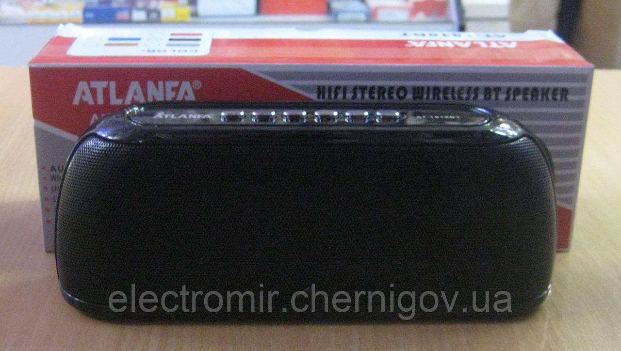 Портативная Bluetooth колонка Atlanfa AT-1818BT (чёрная)