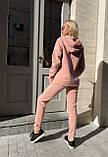 Спортивный костюм женский тёплый пудра, беж, мокко, чёрный 42-44, 46-48, 50-52, фото 3