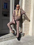 Спортивный костюм женский тёплый пудра, беж, мокко, чёрный 42-44, 46-48, 50-52, фото 4