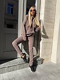 Спортивный костюм женский тёплый пудра, беж, мокко, чёрный 42-44, 46-48, 50-52, фото 6