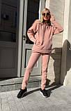 Спортивный костюм женский тёплый пудра, беж, мокко, чёрный 42-44, 46-48, 50-52, фото 10