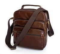 Кожаная сумка на плечо с ручкой 7027C, фото 1