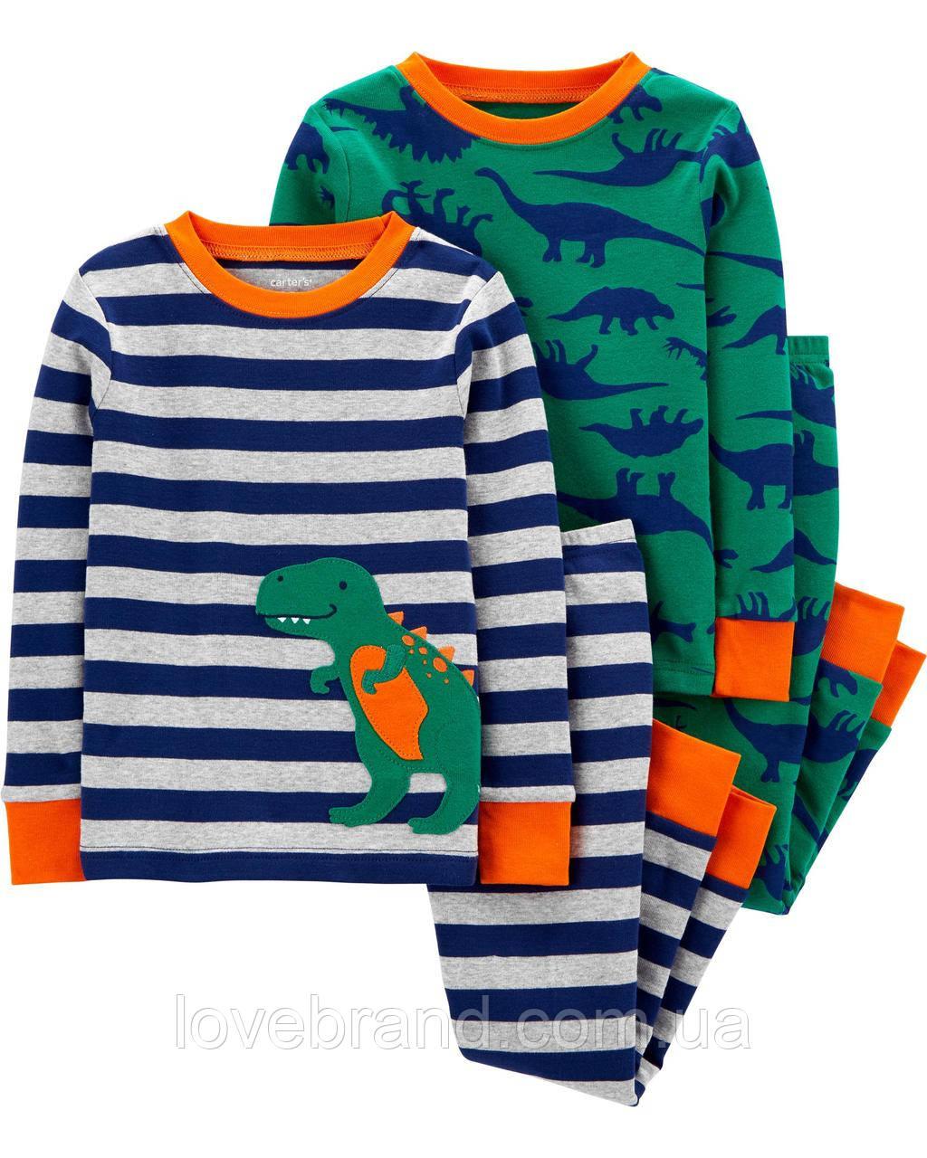 """Пижамы Carter's для мальчика  """"Динозавр"""" , детская пижама картерс 2 набора 3Т/93-98 см"""