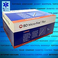 Шприци інсулінові BD Micro-Fine Plus 1 мл, голка 8 мм, 30G ( U-100), 100 шт.