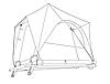 Двухместная автомобильная палатка Tramp Top over TRT-107.13, фото 5
