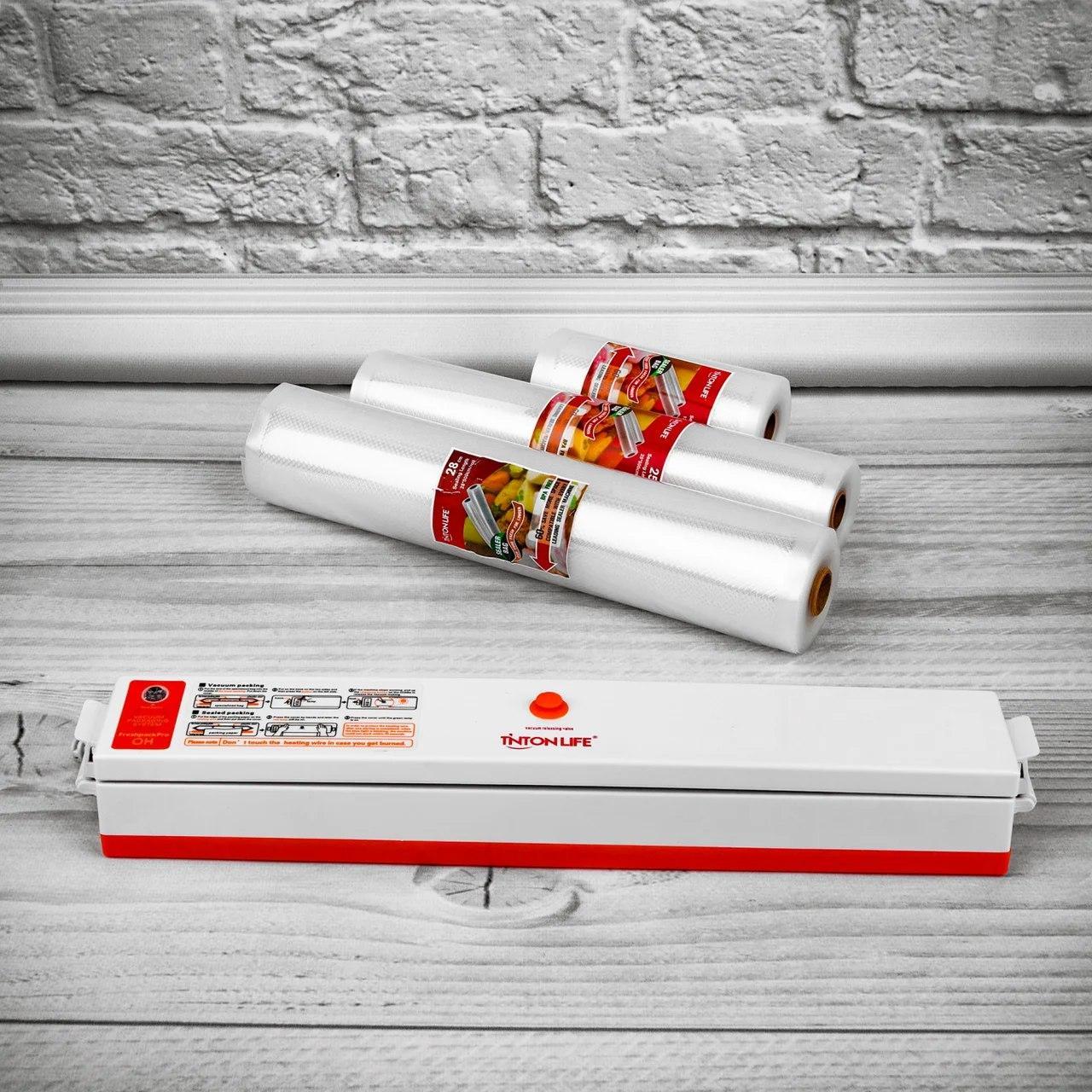 Вакуумний пакувальник FreshpackPRO. Вакууматор + вакуумні пакети