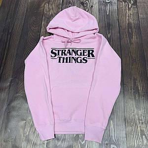 Худи Stranger Things толстовка 2020 розовая