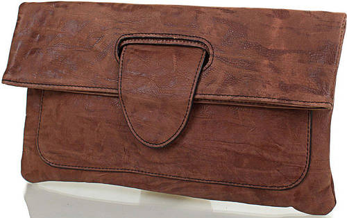 Утонченный женский кожаный клатч-трансформер ETERNO (ЭТЕРНО), коричневый, ET15006