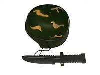 Военная каска,нож,пластик,сетка, от 3-х лет (Каска военная )