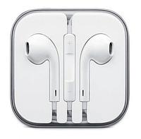 Проводные наушники Аpple iPhone EarPods белые с микрофоном в коробке ()! Скидка