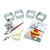 Набор кулинарный KitchenCraft SDI Jane Asher с рецептами 9 шт Серебристый (445612)