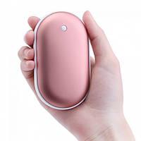Портативное зарядное POWER BANK 5000mah + Heater с нагревом для рук, карманная USB грелка! Хит