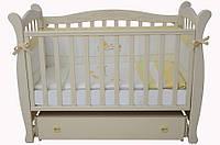 Детская кроватка Соня ЛД 15 маятник (слоновая кость)