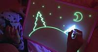 Детский интерактивный набор для рисования в темноте Рисуй светом Формат А4! Акция