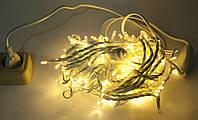 Гирлянда светодиодная 100 LED String 2.0 светодиодная гирлянда нить с мерцанием белая тёплая на белом проводе 9 м