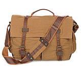 Кожаная мужская сумка кросс - боди 9009B, фото 3