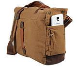 Кожаная мужская сумка кросс - боди 9009B, фото 6