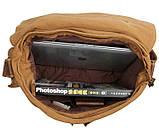 Кожаная мужская сумка кросс - боди 9009B, фото 9