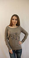 Модный молодежный женский свитер с надписью Paris