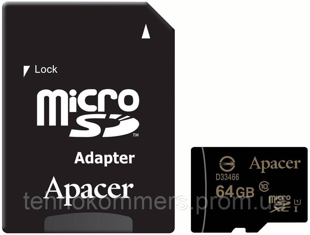 MicroSDXC (UHS-1) Apacer 64Gb class 10 (adapter SD)