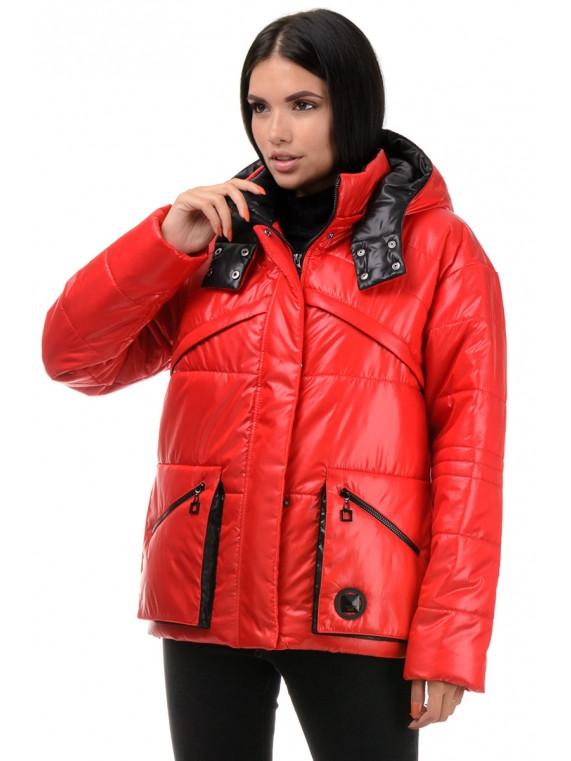 Демисезонная молодежная женская куртка с капюшоном Пудра 42,44,46,48 размер